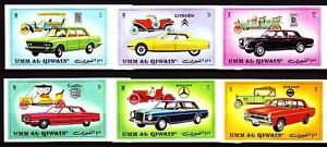Vers-AL-QIWAIN-1972-mi-637-42-B-Voitures-Automobiles-FIAT-MERCEDES-ROLLS-ROYCE