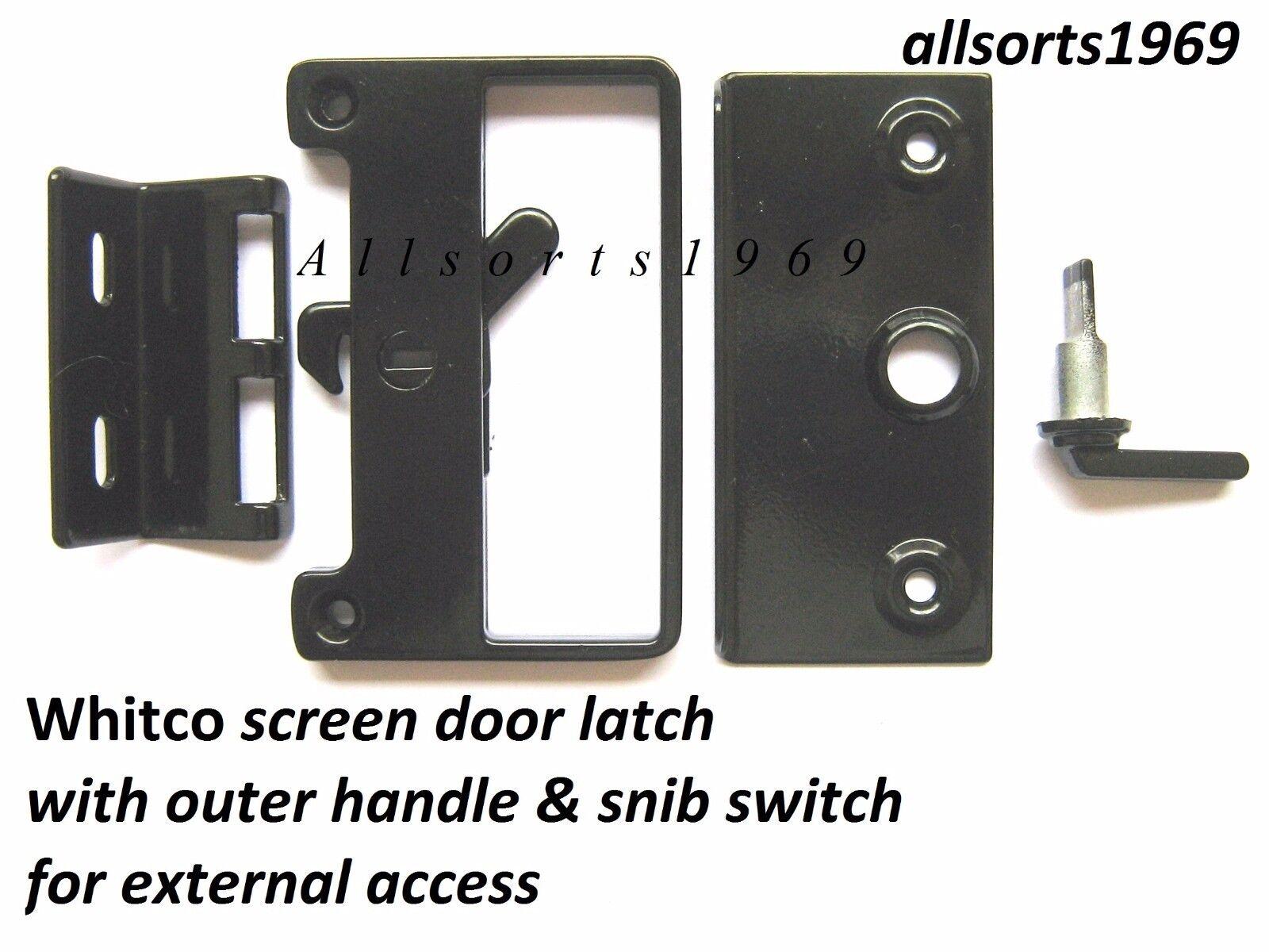 Whitco Sliding Screen Door Latch W821417 Bass Internal External