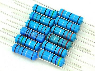 3 Watts Metal Film Resistor Mixed Value Assortment Kit, 3W, E-12 Value Series.
