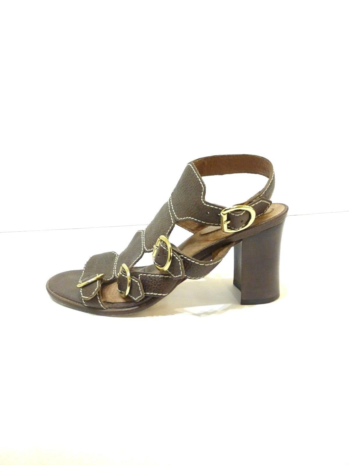 Corso Cormo Brown Leather Sandals with buckle detail  sz 8 Euro 38
