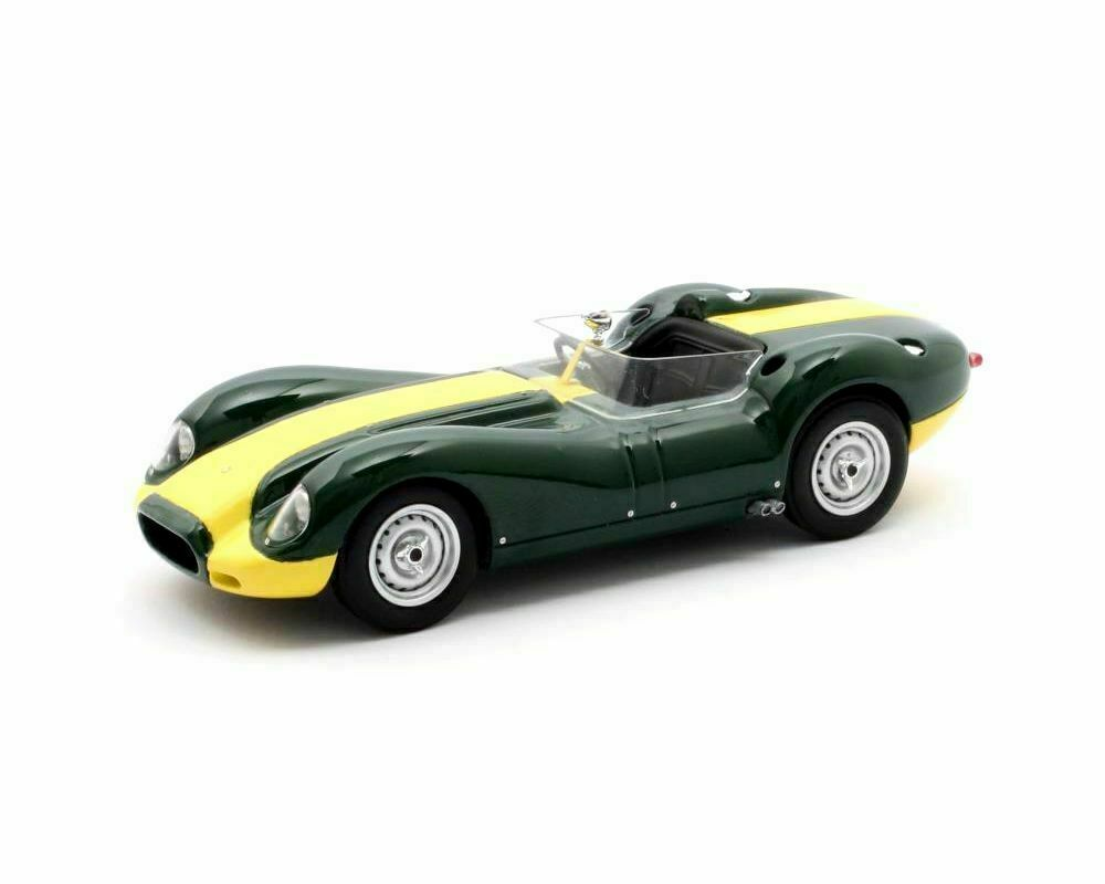 MATRIX SCALE MODELS - LISTER JAGUAR KNOBBLY GREEN YELLOW STRIPE 1958 1 43 SCALE