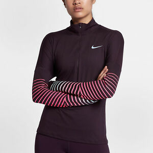 Details about Nike Element Flash Womens Reflective Long Sleeve Running Top M Shirt Purple