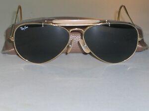 604ms 58 14mm Vintage B&l Ray Ban schwarz G15 Outdoorsman II