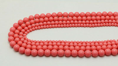 6MM 8MM 10MM 12MM NEW Coral color Round Acrylic Beads Bubblegum Beads Jewelry