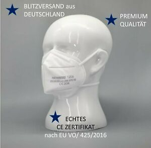 FFP2 Maske Mundschutz 5-lagig, NewLison Premium,Echt CE zertifiziert, DE Händler
