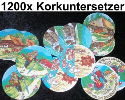1200x WURFMATERIAL Korkuntersetzer Bierdekel Kork Schwarzwald Gastronomie Gastro
