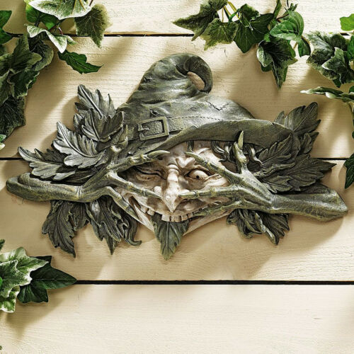Witch Witches Witch's Hat Wall Hanging Garden Art Halloween Props Gothic Decor