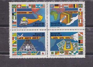 brazil-1989-Sc-2163-modern-postal-service-block-of-four-MNH-c1987