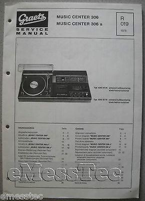 R019 Mutig Itt/graetz Music Center 306 A Service Manual Anleitungen & Schaltbilder