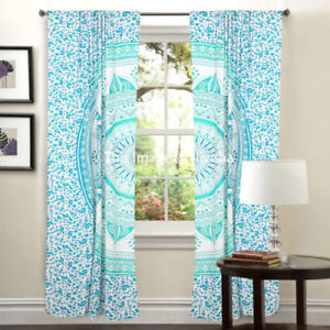 Image Is Loading Window Curtain Mandala Ombre Ethnic Home Room Tulle
