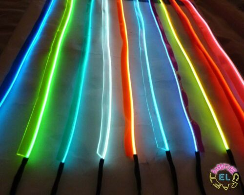 Easy Sew Tag Strip *£3.50 a metre* 10metre of Tron Glow Wire Sewable EL Wire
