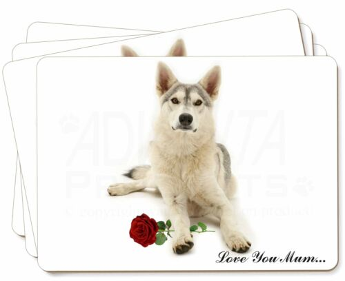 Utonagan with Rose 'Love You Mum' Picture Placemats in Gift Box, ADH53RlymP