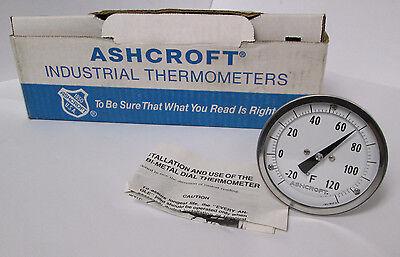 "Ashcroft 3"" Bimetal Thermometer 9169 H/6 -20/120°F"