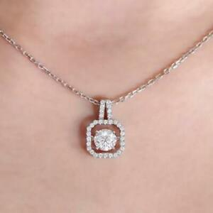 2Ct-Round-Cut-Diamond-Wedding-Pendant-Necklace-With-Chain-14k-White-Gold-finish
