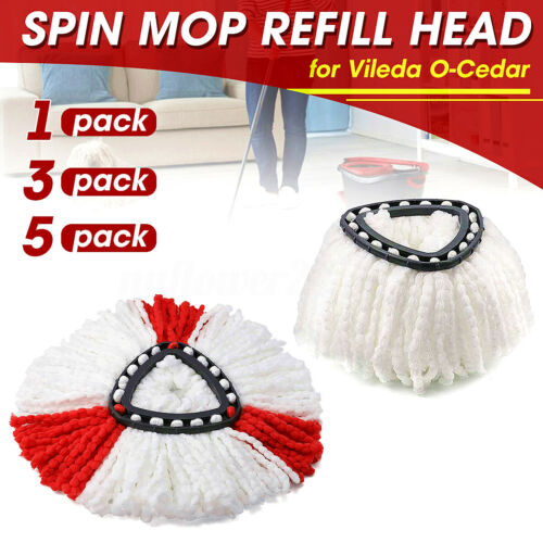 3//5//10Pc Mop Head Refill Replacement for O-Cedar EasyWring Microfiber Spin Mop