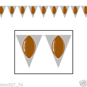 1-FOOTBALL-Tailgate-Superbowl-Party-Decoration-FOOTBALL-Pennant-FLAG-BANNER