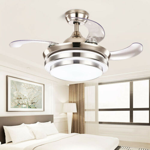 42/'/' Modern LED Light Ceiling Fixtures Lamp Retractable Blade Fan Remote Control
