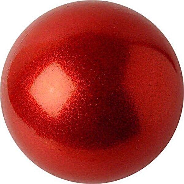 RSG Ball WETTKAMPFBALL Gymnastikball PASTORELLI rot GLITTER HV Junior 16cm NEU