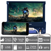 7'' Hd Bluetooth Touch Screen Car Stereo Radio 1 Din Usb/fm/mp3/mp5 + Camera
