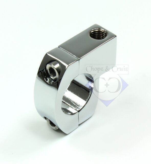 Spiegelhalter - Lenkerklemme - 1 Zoll Lenker 25,4 mm M10 x 1.25 - verchromt