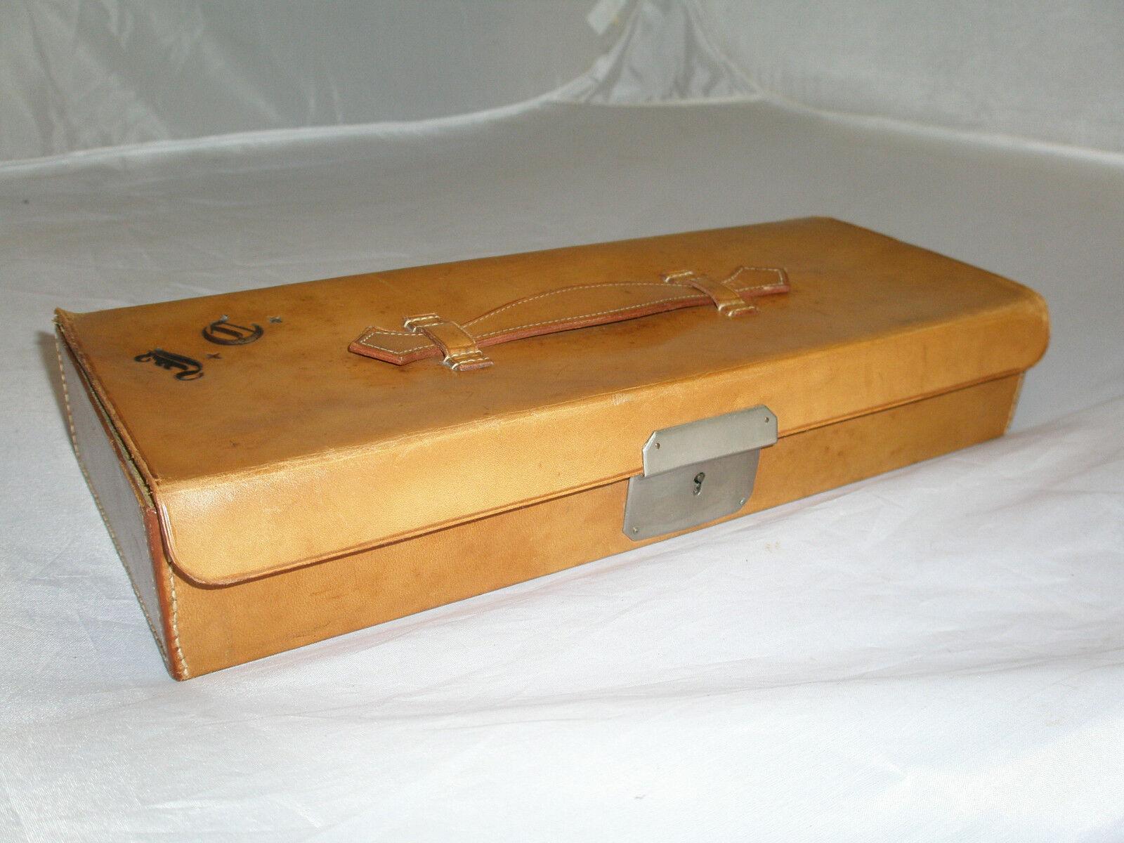 anticata interno foderato in pelle vitello BOX  Valigetta da c.j.withnell Scarborough