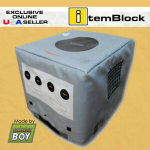 Nintendo-GameCube-GameBoy-Player-Silver-Console-Dust-Cover-Exclusive-US-Seller