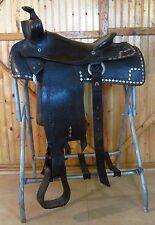 """14"""" Vintage Black Parade Western Saddle"""