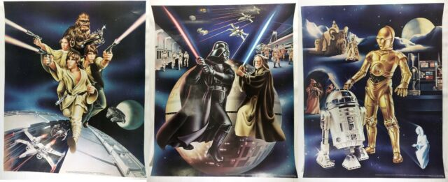 1978 STAR WARS Vintage PROMO POSTER SET Of 3 Mail-In Cascade Cheer Dawn Vader