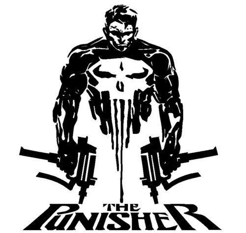 Punisher Skull Figure /& Words Vinyl Decal Truck Hood Fender Door CJ TJ YJ XJ JK