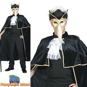 MASQUERADE BALL VENETIAN CAPE HALLOWEEN - One Size - mens fancy dress costume | eBay