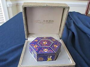 Peking-Jewelry-Cloisonne-Jewelry-Box-Hexagon-Shaped-Original-packaging-box-Gift