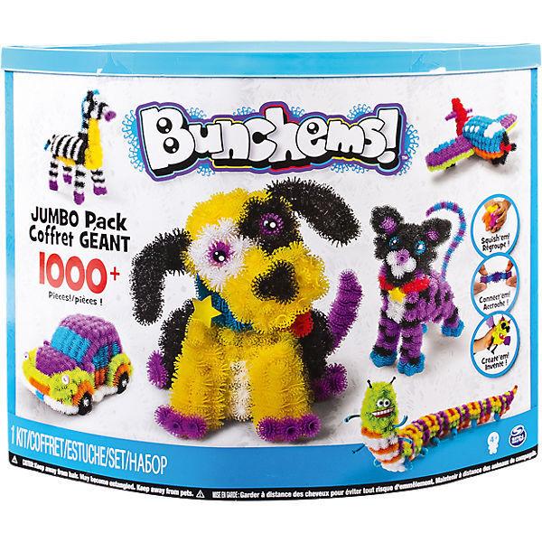 Spin Master Bunchems Jumbo Pack Farben+Accessoires Kinder Kerativset Bastelset