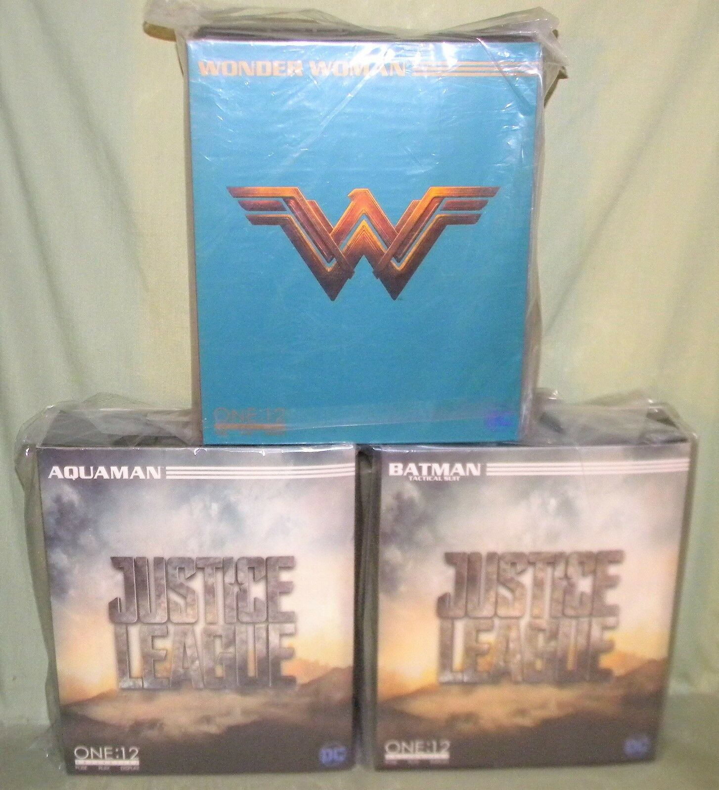 BATMAN AQUAMAN WONDER Frau Justice League One 12 Collective Figure MEZCO TOYZ