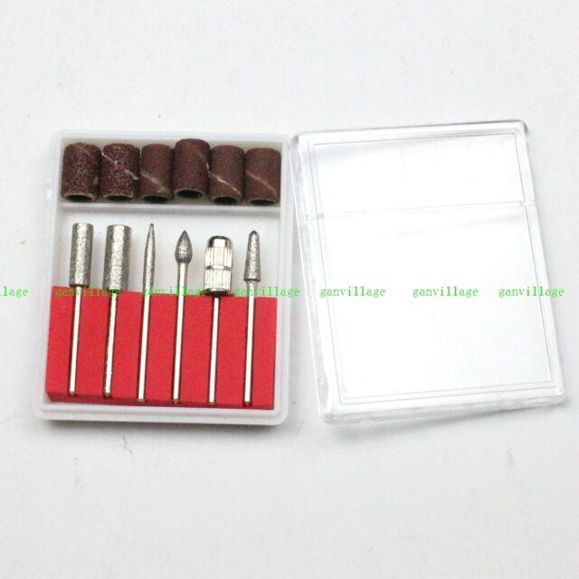 6pcs Nail Art Electric Drill Kit Bits File Manicure Tool Sand Drum Grinding Head