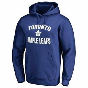 Fanatics-NHL-Men-039-s-Toronto-Maple-Leafs-Victory-Arch-Blue-Hoody