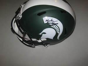 Mark-Dantonio-Michigan-State-Spartans-Signed-Matte-Football-Revolution-Helmet