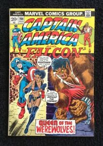 KEY-COMIC-CAPTAIN-AMERICA-amp-The-FALCON-164-1st-App-of-NIGHTSHADE-1973-Marvel
