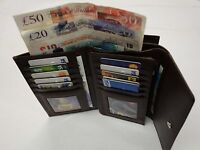 Leather Purse Wallet Organiser Extra Large Brown Many Features