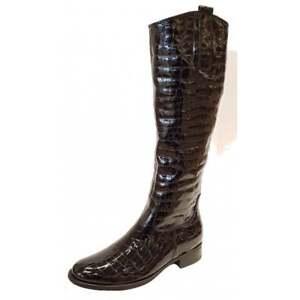 87 Black Patent Croc Boot