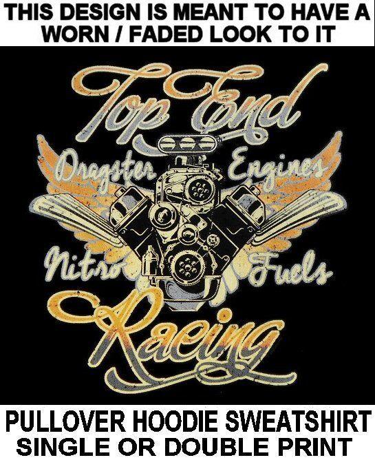 HARD CORE TOP END DRAG RACING ENGINES BLOWER V8 HORSEPOWER HOODIE SWEATSHIRT 627