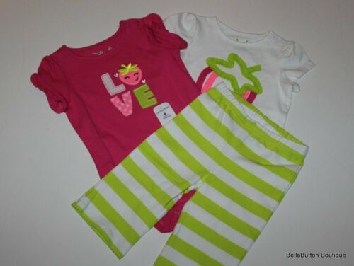 NWT Jumping Beans 2pc 3pc Lots CHOICE T-shirt Shorts Infant Girl Ice Cream Heart