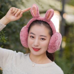 Women Faux Rabbit Fur Winter Earmuffs Earlap Headband Outwear Earwarmers New