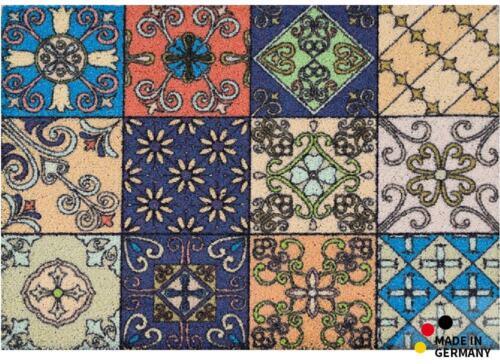 Paillasson Piège Saleté Maroc Retro Mosaïque multicolores 50x70 Cm Lavable