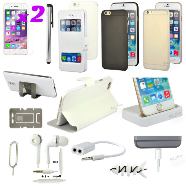 """13 in 1 Accessory Bundle Pack White Case Cover Charger For iPhone 6 Plus 5.5"""""""