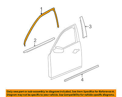 15913530 Window Outer Belt Reveal Molding Front Right 2006-11 ...