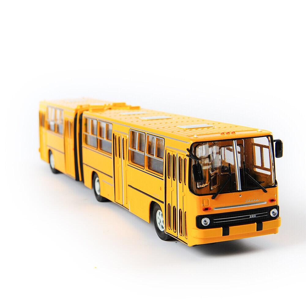 1 43 Diecast Aleación de Rusia soviética modelo de autobús de dos pisos Ikarus - 280 Modelo Juguetes
