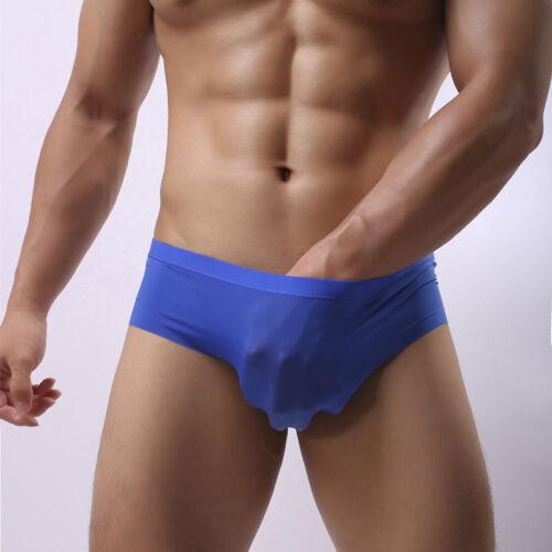 Men/'s Ice Silk Low-rise Breathable Briefs Boxer Shorts Briefs Underwear SA