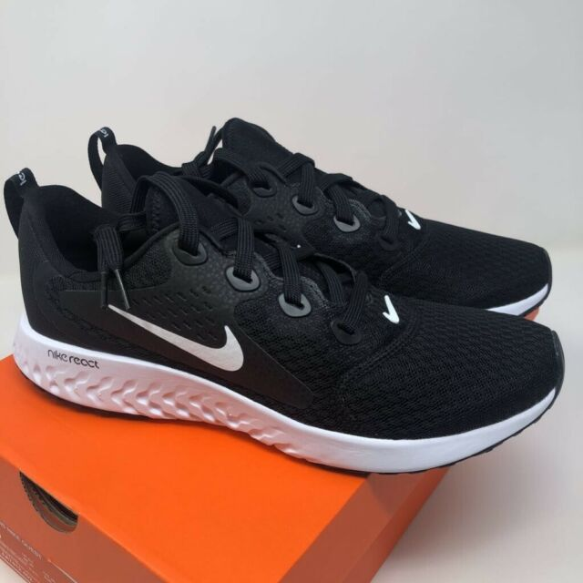 Nike Boys Legend React GS Running Shoes Black AH9438-001 Lace Up Low Top 7 New