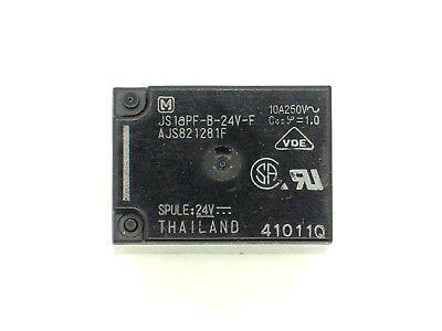 js1-24v-f 4r60 1x Panasonic-relais Js1apf-b-24v-f 24v- Vdc 250v~ Ac/10a
