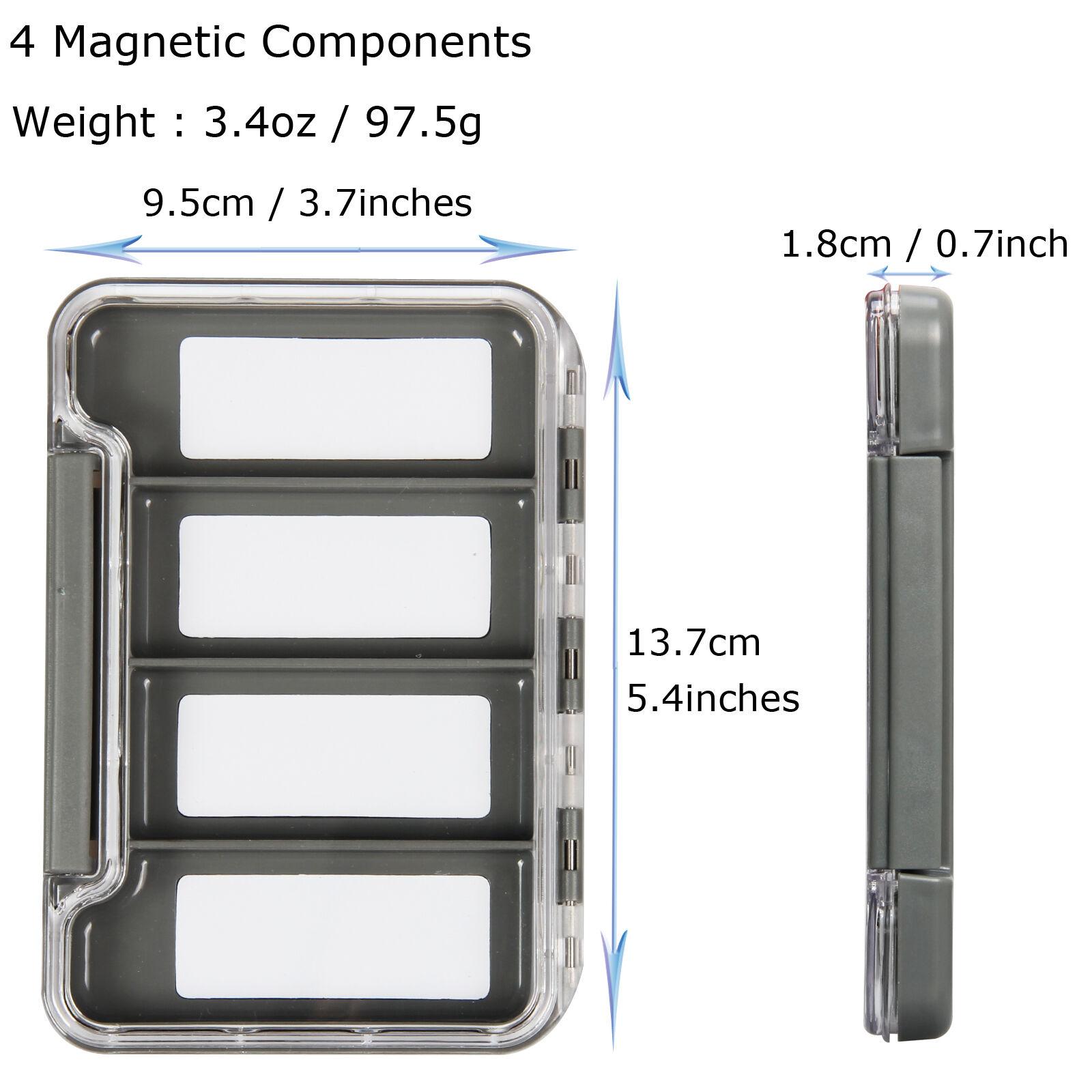 2pc Waterproof Super Slim Fly Fishing Box Easy Grip Foam Insert Fly Box Case